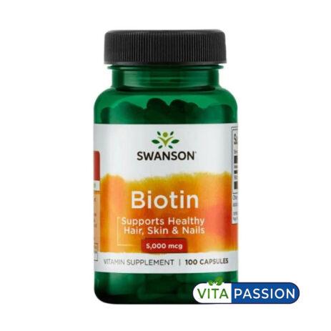 BIOTIN 100 CAPSULES SWANSON