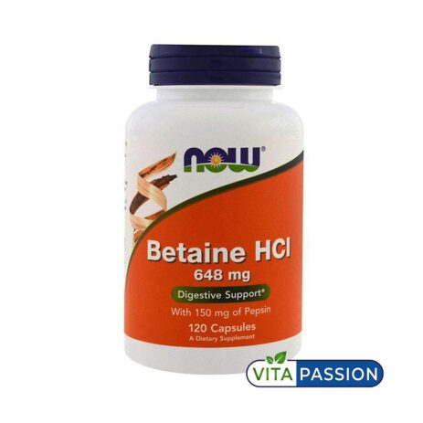 BETAINE HCL 120 CAPS NOW FOODS