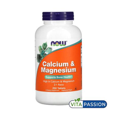 Calcium Magnesium 250 Tabs NOW